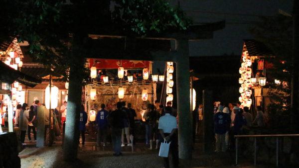 植木神社祇園祭宵宮(鳥居前)
