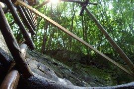 甌穴の中からの景色