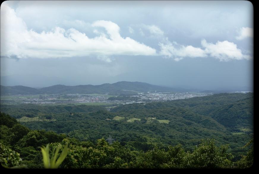 三国越林道からの風景