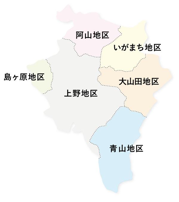 地図_伊賀市域